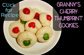 Granny's Cherry Thumbprint Cookies