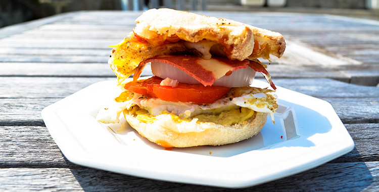 Breakfast Tower Sandwich