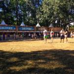 Food stalls inside TomorrowWorld